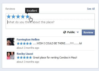 Review RentalsMaui.com on Facebook